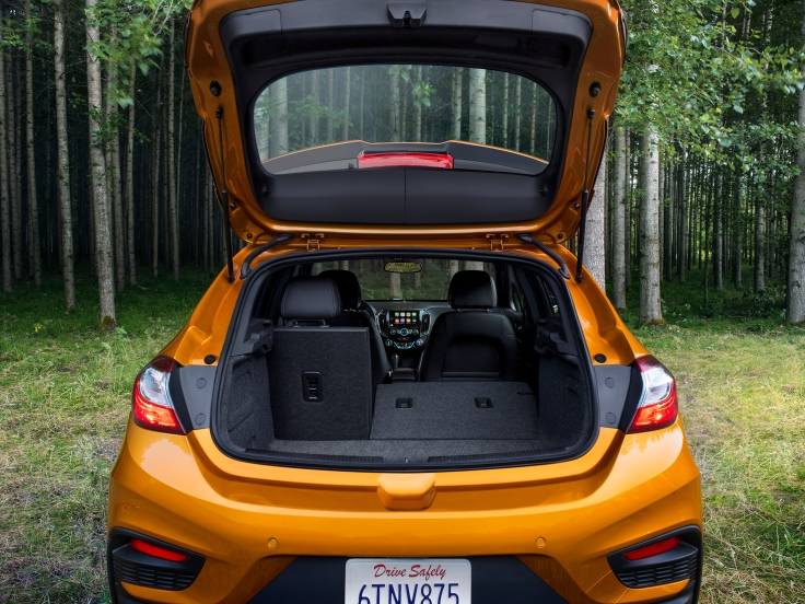 The 2017 Cruze Hatch offers 47.2 cubic feet of rear cargo room w
