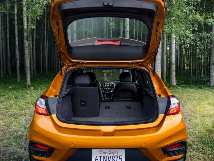 The 2017 Cruze Hatch offers 47.2 cubic feet of rear cargo room with the back seats flipped down.