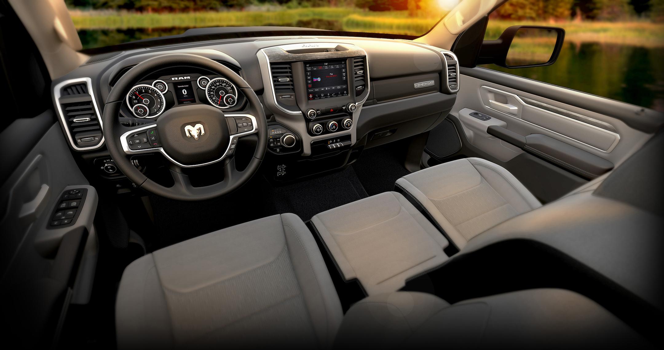 2019 Ram 1500 Big Horn – Black Diesel Interior